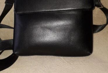 Geanta piele cu 3 compartimente pentru barbati