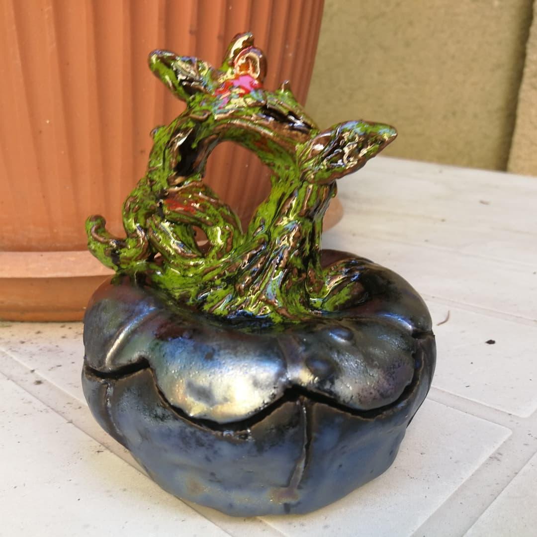 Dovleac decor ceramica, lucrat manual, hand made